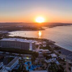 Asterias Beach Hotel Aerial Photo